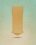 Ofício de papel recicl Tag da conversa Fotos de Stock Royalty Free