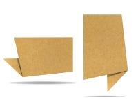 Ofício de papel recicl Tag da conversa Foto de Stock Royalty Free