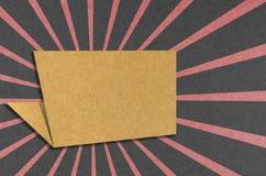 Ofício de papel recicl Tag da conversa Imagens de Stock