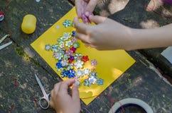 Ofício feito a mão dos cristais da flor para o partido da princesa foto de stock royalty free