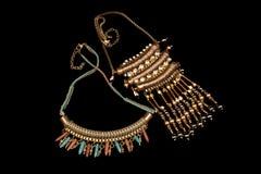 Ofício frisado da mão das colares do estilo de Tow Pair Of Beautiful Bohemian fotografia de stock