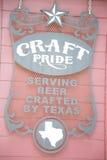 Ofício Pride Beer Sign Austin foto de stock royalty free
