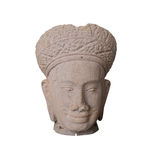 Ofícios da escultura do arenito de Camboja feitos a mão com o clippin Fotos de Stock Royalty Free