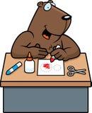 Ofícios de Groundhog dos desenhos animados Fotografia de Stock Royalty Free