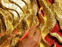Ofícios dourados Foto de Stock Royalty Free