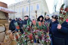 Ofícios tradicionais justos, Vilnius Fotografia de Stock