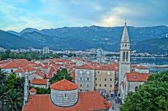 Oförglömlig semester i Montenegro Arkivfoton
