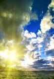Oförglömlig solnedgång Arkivfoton