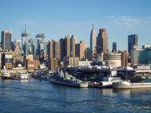Oförskräckt museum i midtownen Manhattan Arkivbilder
