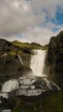 Ofaerufoss siklawa w Eldgja jaru południe Iceland fotografia stock