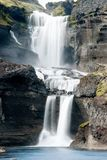 Ofaerufoss vattenfall i den Eldgja kanjonen Royaltyfria Foton