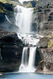Ofaerufoss-Wasserfall in Eldgja-Schlucht Lizenzfreie Stockfotos