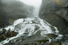 Ofaerufoss waterfall in Eldgja canyon Stock Image