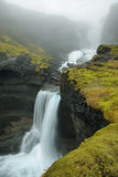 Ofaerufoss waterfall in Eldgja canyon Stock Images