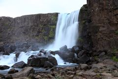 Ofaerufoss waterfall. Stock Photography