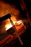 Ofen in der metallurgischen Anlage lizenzfreie stockbilder