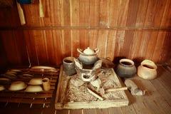 Ofen der thailändischen Küche: Alte Nordküchengerätmode Lizenzfreies Stockfoto