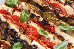 Ofen gebackene Mittelmeernahrung Stockfotos
