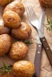 Ofenkartoffeln auf Papier lizenzfreies stockbild