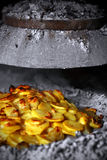 Ofenkartoffeln mit Zwiebeln Stockfotografie