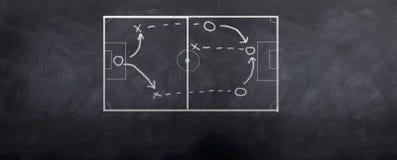Ofensa del fútbol Imagenes de archivo