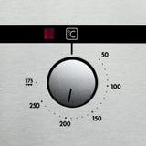 Ofenvorwahlknopf Stockbild
