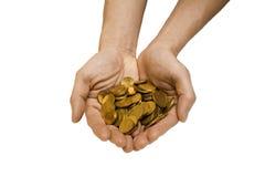 Oferecimento do dinheiro Imagem de Stock