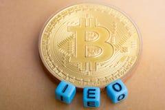 Oferecimento inicial da troca de IEO fotos de stock royalty free
