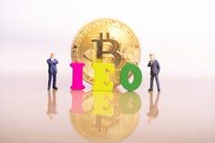 Oferecimento inicial da troca de IEO fotografia de stock royalty free
