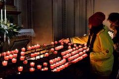 Oferować, wotywny, ono modli się, duchowość Zdjęcia Royalty Free