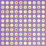 100 ofert pracy ikon ustawiających w kreskówka stylu Obraz Royalty Free