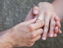 Oferta de la boda Fotografía de archivo libre de regalías
