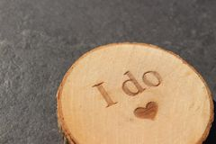 Oferta de la caja de la boda Foto de archivo
