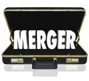 Oferta de la oferta de las compañías de la cosechadora de la cartera del negocio de la palabra de la fusión Imagen de archivo