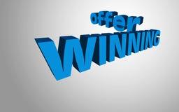 oferta de vencimento do conceito do texto 3D Imagem de Stock Royalty Free
