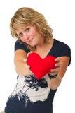 Oferta del corazón Fotografía de archivo