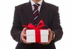 Oferta del hombre de negocios Imágenes de archivo libres de regalías