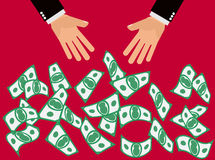Oferta do dinheiro Imagem de Stock
