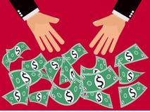 Oferta do dinheiro do dólar Foto de Stock Royalty Free