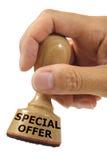 Oferta especial fotos de archivo libres de regalías
