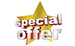 Oferta especial stock de ilustración