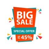 Oferta especial de la venta grande hasta el 45% Ilustración del Vector