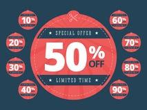 A oferta especial eliminou vales Imagens de Stock