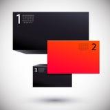 Oferta especial Tarjeta en blanco con las cintas Ilustración del vector Foto de archivo libre de regalías