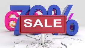 Oferta especial, venda, disconto, porcentagens video estoque