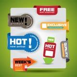 Oferta especial y etiquetas y etiquetas engomadas de la garantía Imagen de archivo libre de regalías