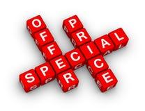 Oferta especial y precio Foto de archivo libre de regalías