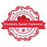 Oferta francesa del día del ` s de Valentin del santo Fotos de archivo