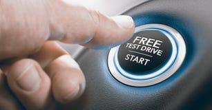 Oferta libre de la prueba de conducción Imagen de archivo libre de regalías
