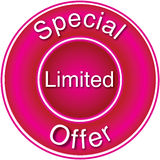 Oferta limitada especial Imágenes de archivo libres de regalías